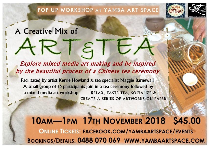 Art and Tea Workshop advert